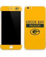 Green Bay Packers Yellow Performance Series iPhone 6/6s Plus Skin