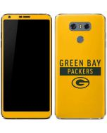Green Bay Packers Yellow Performance Series LG G6 Skin