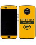 Green Bay Packers Yellow Performance Series Moto X4 Skin
