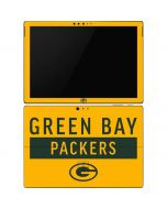 Green Bay Packers Yellow Performance Series Surface Pro 6 Skin