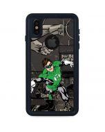 Green Lantern Mixed Media iPhone XS Waterproof Case