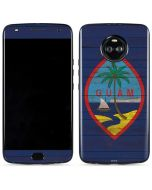 Guam Flag Dark Wood Moto X4 Skin