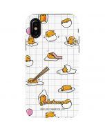 Gudetama Grid Pattern iPhone X Pro Case