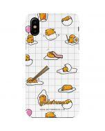 Gudetama Grid Pattern iPhone XS Max Lite Case