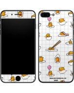 Gudetama Grid Pattern iPhone 8 Plus Skin