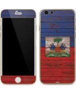 Haiti Flag Dark Wood iPhone 6/6s Skin