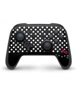 Hello Kitty Black Nintendo Switch Pro Controller Skin