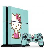 Hello Kitty Blue Background PS4 Console and Controller Bundle Skin