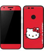 Hello Kitty Cropped Face Red Google Pixel Skin
