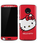 Hello Kitty Cropped Face Red Moto G6 Skin