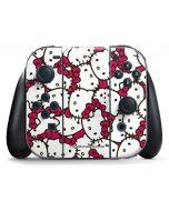Hello Kitty Multiple Bows Pink Nintendo Switch Joy Con Controller Skin