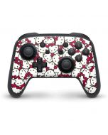 Hello Kitty Multiple Bows Pink Nintendo Switch Pro Controller Skin
