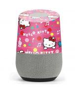 Hello Kitty Music Pattern Google Home Skin