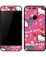 Hello Kitty Music Pattern Google Pixel Skin