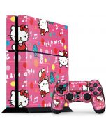 Hello Kitty Music Pattern PS4 Console and Controller Bundle Skin
