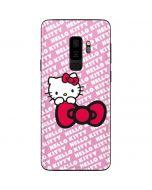 Hello Kitty Pink Bow Peek Galaxy S9 Plus Skin