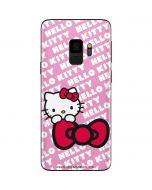 Hello Kitty Pink Bow Peek Galaxy S9 Skin