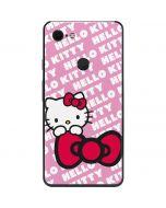 Hello Kitty Pink Bow Peek Google Pixel 3 XL Skin