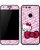 Hello Kitty Pink Bow Peek Google Pixel Skin