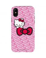 Hello Kitty Pink Bow Peek iPhone XS Max Pro Case