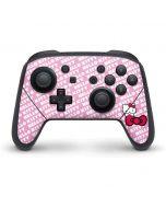 Hello Kitty Pink Bow Peek Nintendo Switch Pro Controller Skin