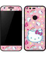 Hello Kitty Pink, Hearts & Rainbows Google Pixel Skin