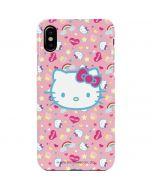 Hello Kitty Pink, Hearts & Rainbows iPhone XS Lite Case