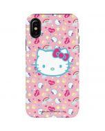 Hello Kitty Pink, Hearts & Rainbows iPhone XS Pro Case