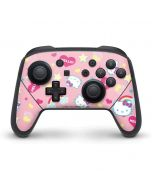 Hello Kitty Pink, Hearts & Rainbows Nintendo Switch Pro Controller Skin