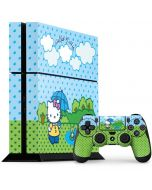 Hello Kitty Rainy Day PS4 Console and Controller Bundle Skin
