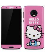 Hello Kitty Sitting Pink Moto G6 Skin