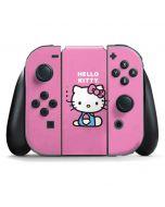 Hello Kitty Sitting Pink Nintendo Switch Joy Con Controller Skin