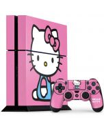 Hello Kitty Sitting Pink PS4 Console and Controller Bundle Skin