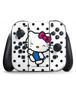 Hello Kitty Waving Nintendo Switch Joy Con Controller Skin