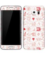 Hello Sanrio Outline Galaxy S6 Edge Skin