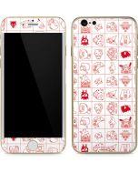 Hello Sanrio Outline iPhone 6/6s Skin
