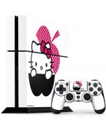 HK Pink Black Apple PS4 Console and Controller Bundle Skin