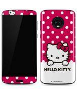 HK Pink Polka Dots Moto G6 Skin