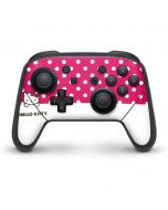 HK Pink Polka Dots Nintendo Switch Pro Controller Skin