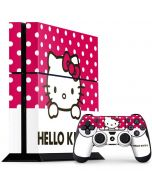 HK Pink Polka Dots PS4 Console and Controller Bundle Skin
