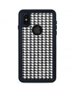 Houndstooth Black/White iPhone XS Waterproof Case