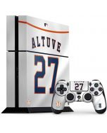 Houston Astros Jose Altuve #27 PS4 Console and Controller Bundle Skin