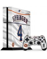 Houston Astros Springer #4 PS4 Console and Controller Bundle Skin