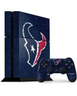 Houston Texans Distressed PS4 Console and Controller Bundle Skin