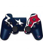 Houston Texans Large Logo PS3 Dual Shock wireless controller Skin
