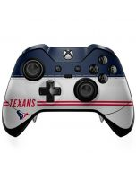 Houston Texans White Striped Xbox One Elite Controller Skin