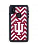 Indiana Chevron Print iPhone X Waterproof Case