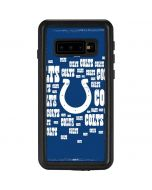 Indianapolis Colts Blue Blast Galaxy S10 Waterproof Case