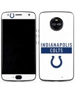Indianapolis Colts White Performance Series Moto X4 Skin
