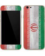 Iran Flag Distressed iPhone 6/6s Skin